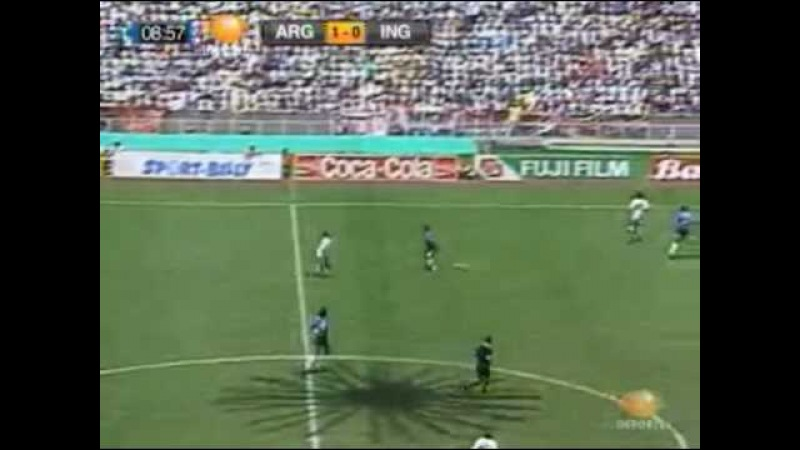 Argentina vs England 1986 Gol de Maradona (The best goal ever)