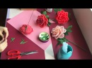 Valentine's Day Crepe Paper Rose by MP B timelapse video