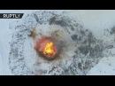 Православные христиане на языческую Масленицу торжественно сожгли 30 метровую копию католического ко