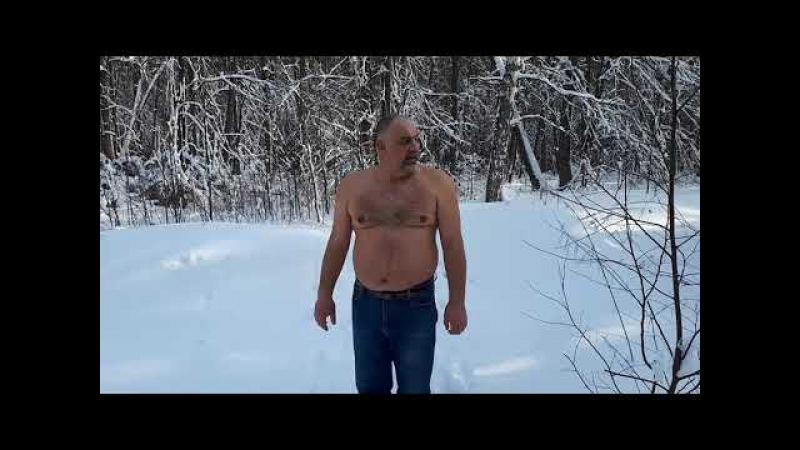 Волжск. Лыжня России-2018. Обтирание снегом.