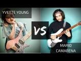 Yvette Young VS Mario Camarena (CHON) Guitar Shred Wars Math Rock Tapping .strandberg Ibanez