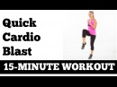 15 Minute Quick At Home Fat Burning Cardio Blast No Equipment Needed