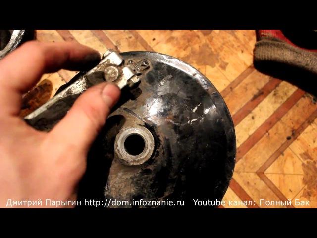 Обслуживание: чистка и смазка маятника и тормозного механизма мотоцикла