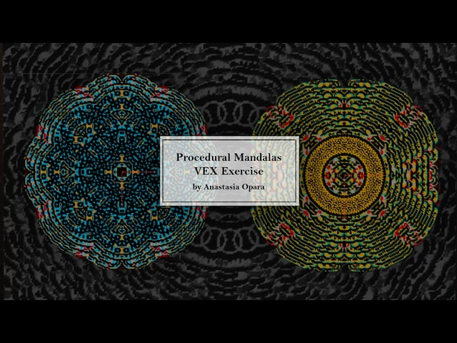 Procedural Mandala Pattern VEX tutorial