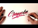 Hand Lettering Tutorial   Crayola Marker Brush Calligraphy 🖌