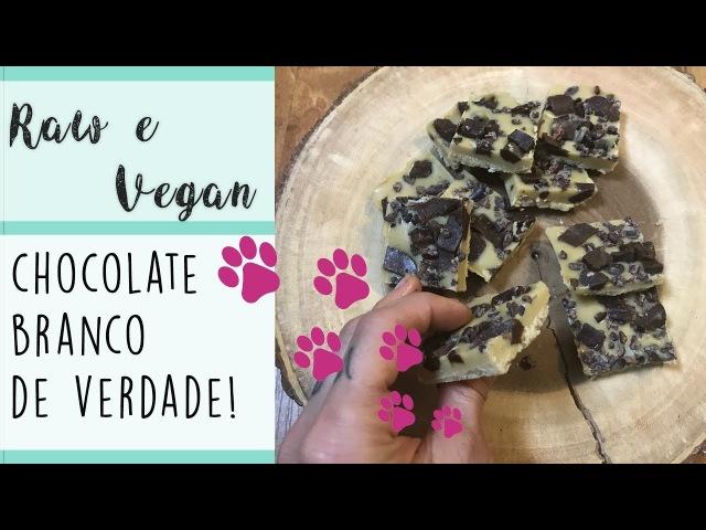 CHOCOLATE BRANCO VEGANO DE VERDADE! (lactose, gluten e sugar free)