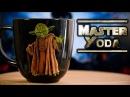 Магистр Йода из полимерной глины DIY Декор кружки своими руками