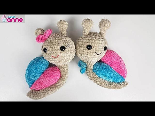 Amigurumi salyangoz kalpli yapımı - Amigurumi snail free pattern