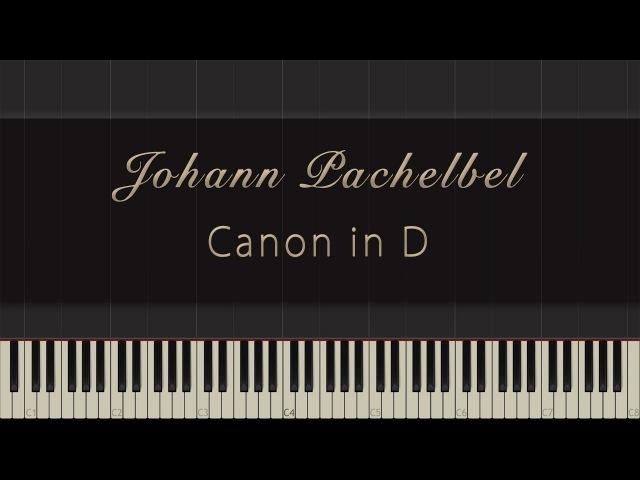 Johann Pachelbel - Canon in D \\ Synthesia Piano Tutorial