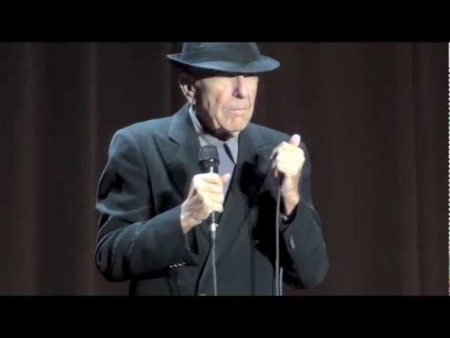 Leonard Cohen, Waiting for the Miracle, Dublin, 12-09-2012