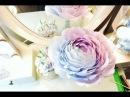 Большая роза из гофро бумаги 1 часть