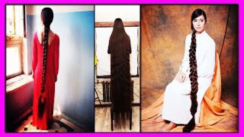 Шикарные Волосы Длиной 2 метра 30 см! 27-летняя Алия Насырова Прославилась на Весь ...
