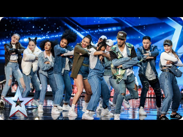 Empire Dance Crew perform Little Mix dance tribute | Auditions Week 7 | Britain's Got Talent 2017