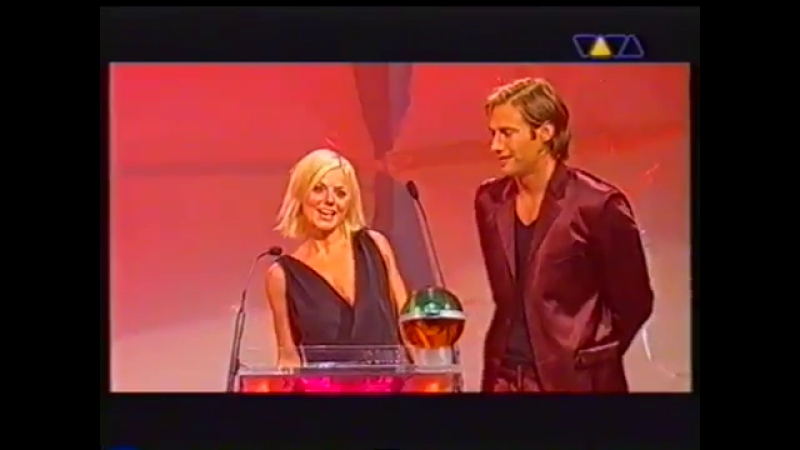 Emma Bunton and Geri Halliwell @ Comet Awards 2002