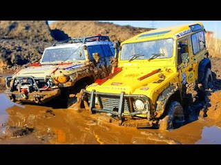 RC Cars Spring Mud – HPI Venture Toyota FJ Cruiser and Land Rover Defender — Extreme Pictures