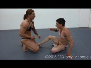 Muscle wrestling girl