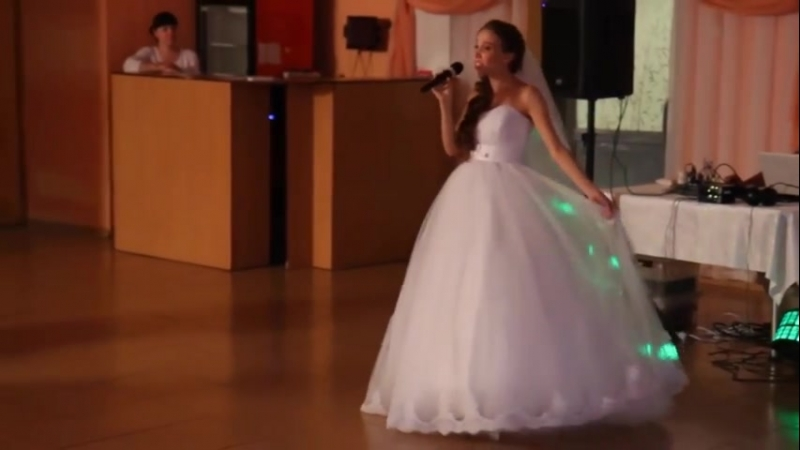 Невеста поёт жениху волшебный голос