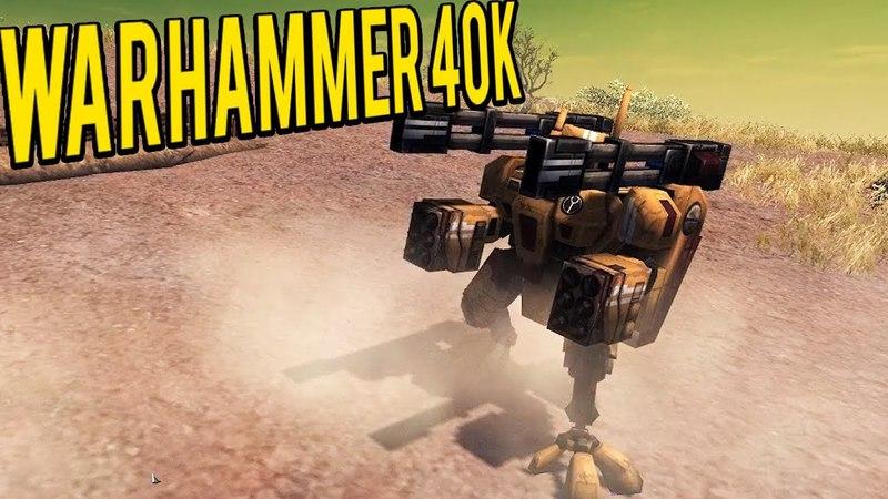 TAU Vs The Armies of CHAOS - Men of War Warhammer 40k Mod