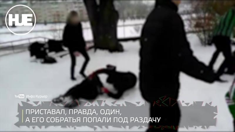 В центре Слуцка десяток школьников жестоко отметелили троих подростков