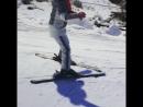 Николь встала на лыжи 🎿