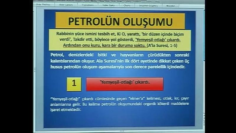 Kuran mucizeleri Kuran'da petrolün oluşumu
