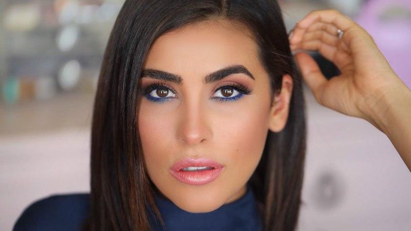 How to Make Brown Eyes POP BLUE EYELINER Makeup Tutorial EASY