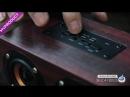 Wooden Wireless Bluetooth Speaker Portable HiFi Shock Bass Red