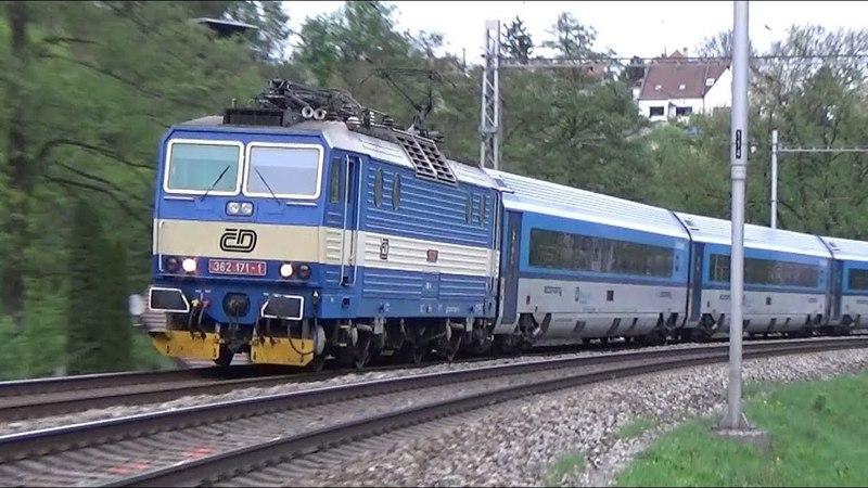 Eso na railjetu 373 W. A. Mozart - Bílovice nad Svitavou 24.4.2018