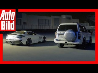Nissan Patrol vs. Mercedes SLR (2018) Review/Test/Details