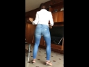 My Aunt in the Kitchen shaking her booty,cute...