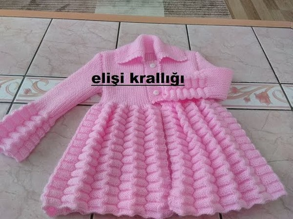 PİLELİ AKORDİYON MODELİ BEBEK HIRKASI YAPILIŞI/Pileli Accordion Model Baby cardigan Construction