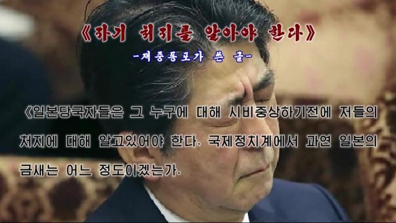 《세계적망신만 자초한 아베》 -재일동포가 쓴 글- 외 1건