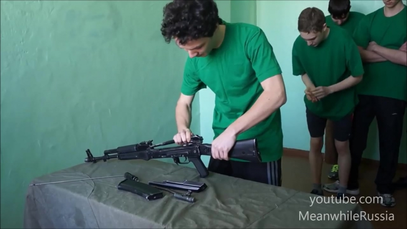 AK-74_ Fast Assembly Disassembly In Russian School