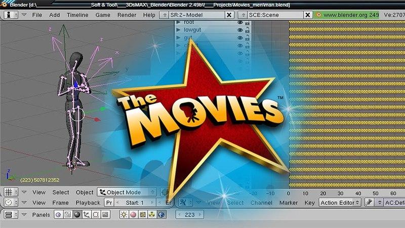 The Movies ⁞ ⁞ Урок ⁞ ⁞ Создаём ANM анимацию и FLM сцену ⁞ ⁞ Victory ☢ Studio