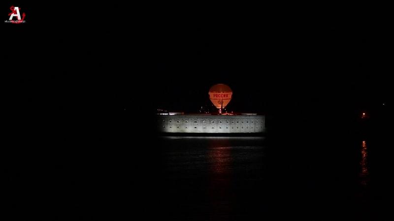 Воздушный шар Россия над Константиновской батареей в Севастополе