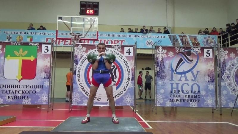 Сергей Куликов, весовая категория до 68кг, 100 подъёмов, гири 24кг