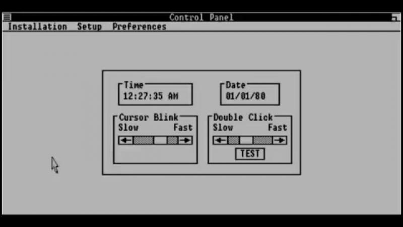 Windows 1.01 история оболочки для ibm pc