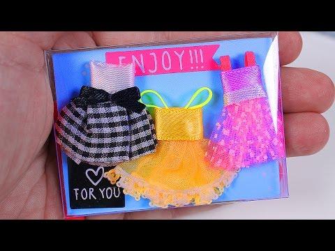 Miniature Doll Dresses set DIY