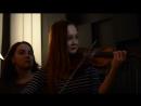 Квартирник 25 01 2018 НочныеСнайперы 31весна в исполнении Марии Софии скрипка Степана джембе и Владимира гитара