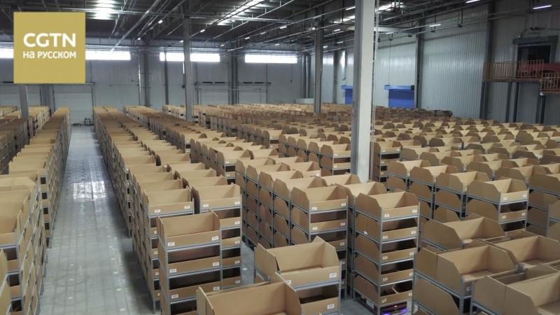 На складе компании Цзиндун заработала автоматизированная логистическая система