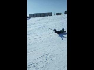 Первое соревнование по спускам на лопате в Красноярске