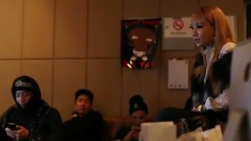CL at YG STUDIO with GD/TAEYANG and others (Unseen 2013)