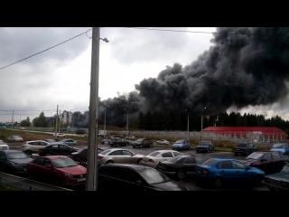 Пожар на территории склада РБУ по ул. Архитектора П. П, Берша.720
