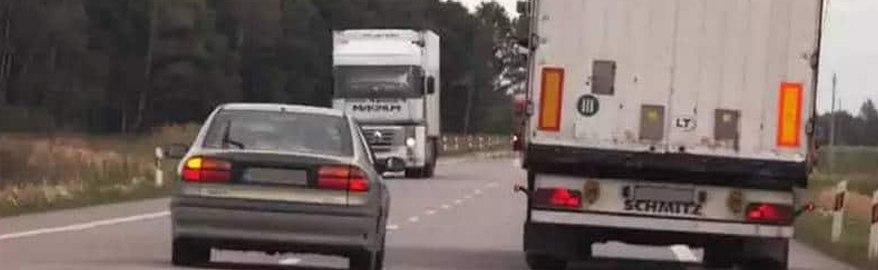 Как правильно совершать обгон на трассе?