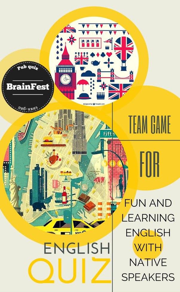 Афиша Новосибирск English quiz Brainfest / Веселая командная игра