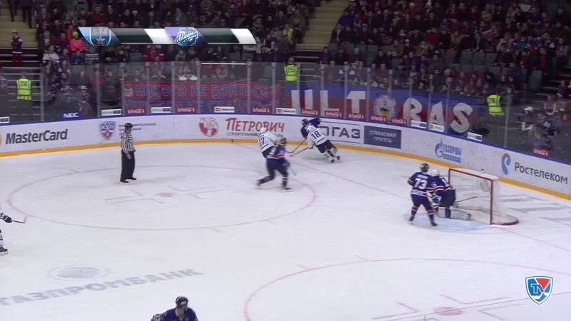 Моменты из матчей КХЛ сезона 14/15 • Гол. 0:2. Горшков Александр (Адмирал) увеличивает преимущество в счете 21.01