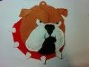 Прихватка - пес Бульдог,ч.2. Pothook - dog Bulldog, р.2. Amigurumi. Crochet. Амигуруми.