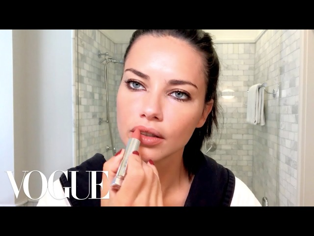 Adriana Lima Gets Ready for a Night Out | Beauty Secrets | Vogue