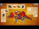 Dino Toy Robot Triangular - Powerful red dinosaur Dino Toy Robot