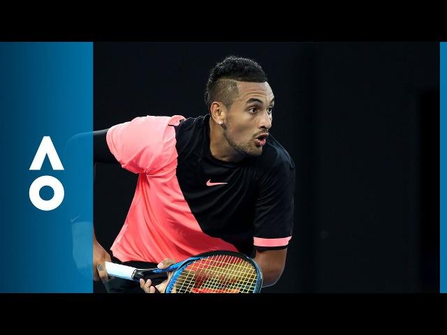Nick Kyrgios v Jo-Wilfried Tsonga match highlights (3R)   Australian Open 2018